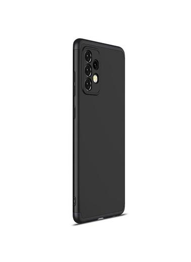 Microsonic Samsung Galaxy A52 Kılıf Double Dip 360 Protective Kırmızı Siyah